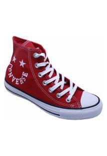 Tênis Converse All Star Chuck Taylor Hi Vermelho Branco Ct13180002