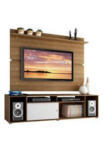 Rack Madesa Cancun E Painel Para Tv Até 65 Polegadas - Rustic/Rustic/Branco Marrom