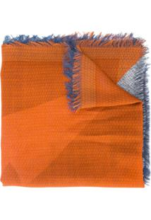 Fendi Echarpe De Lã Com Recortes - Amarelo