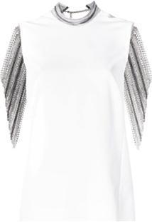 Versace Vestido Com Aplicações - Branco