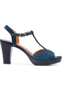 Chie Mihara Sandália Com Abertura Frontal E Salto 90Mm - Azul