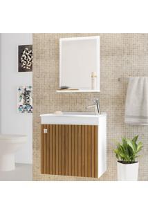 Armário De Banheiro Siena Branco/Marrom - Bechara Móveis