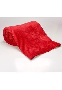 Cobertor Queen 2,20X2,40M Canelado Cereja