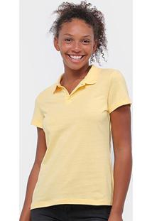 Camisa Polo Malwee Feminina - Feminino-Amarelo