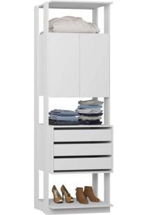 Módulo Closet 2 Portas 3 Gavetas Clothes Be Mobiliário Branco