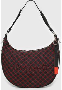Bolsa Desigual Shoulder Bag Camila Preto/Vermelho