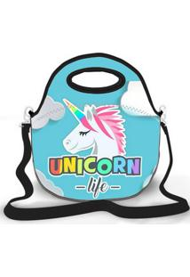 Bolsa Térmica Shop House Unicorn Life Azul