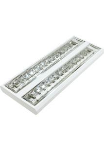 Luminária Ted Led Autovolt Aletada 2X20 6500K - Taschibra - Branco