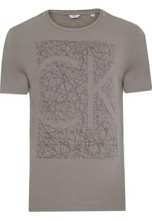 Camiseta Masculina Estampa Sketches - Cinza
