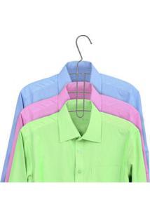 Cabide Triplo Para Camisas Cromado Arthi