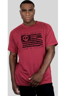 Camiseta Bleed American Land Of Freedom Vinho