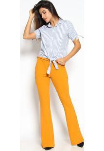 Camisa Listrada- Branca & Azul- Milioremiliore