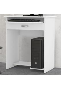 Mesa Para Computador 1 Gaveta 06700 Branco - Ej Móveis