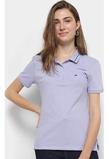 Camisa Polo Tommy Hilfiger Classics Feminina - Feminino-Lilás