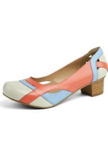 Sapato Miuzzi Linha Retro Vintage Off-White