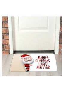 Tapete De Natal Para Porta Happy New Year Único