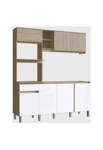 Cozinha Anis 7 Portas 1 Gaveta Malbec/Branco Decibal Moveis