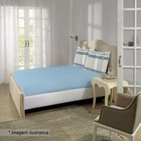 daa581f05 Jogo De Cama Albert Geométrico Casal- Azul Claro   Cinzalepper