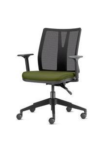 Cadeira Addit Assento Crepe Verde Salvia Com Base Piramidal Em Nylon - 54111 Verde