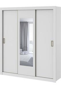 Guarda Roupa Apoena Plus 3 Portas Com Espelho Branco 2020