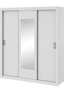 Guarda Roupa Apoena Plus 3 Portas Com Espelho Branco