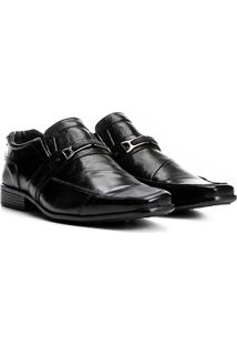 Sapato Social Couro Walkabout Fivela Masculino - Masculino-Preto