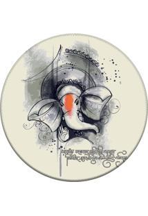 Tapete Love Decor Redondo Wevans Elefante Off White 94Cm