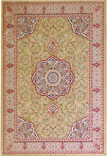 Tapete Mashhad Retangular Veludo 48X90 Cm Caramelo