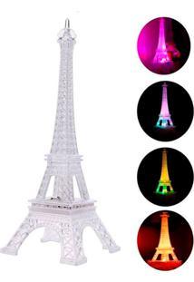 Enfeite Decoração Torre Eiffel Iluminada Led Thata Esportes Abajur Luminária 19 Cm