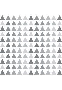 Adesivo De Parede Triangulos Tons De Cinza 121Un