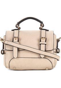 Bolsa Wj Mini Bag Satchel Crossbody Feminina - Feminino-Bege