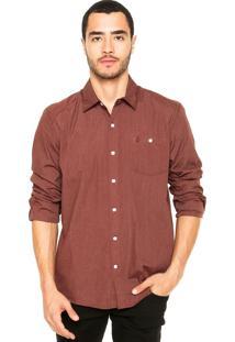 Camisa Volcom Everett Solid Marrom