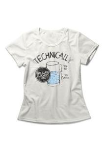Camiseta Feminina The Glass Is Full Off-White