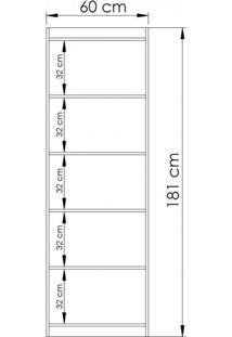 Estante Livreiro 2 Portas Ho-2906 Home Office Hecol Avelã Tx/Branco Tx