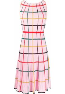 Missoni Vestido Com Padronagem Xadrez - Rosa