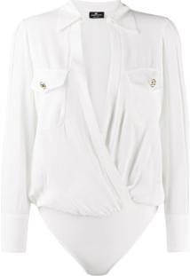 Elisabetta Franchi Wrap Body Shirt - Branco