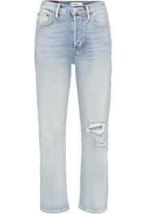 Re/Done Calça Jeans Reta - Azul