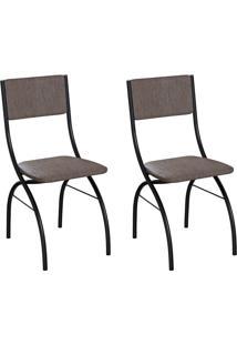 Conjunto Com 2 Cadeiras Dubbo Marrom E Preto