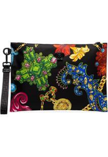 Versace Bolsa Clutch Estampada - Dmn1 Multicoloured