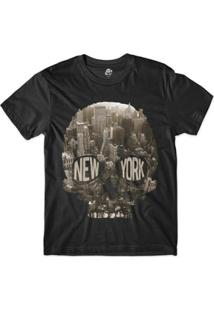 Camiseta Bsc Caveira New York City Sublimada - Masculino