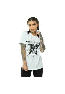 Camiseta Bossa Brasil Butterfly Branco