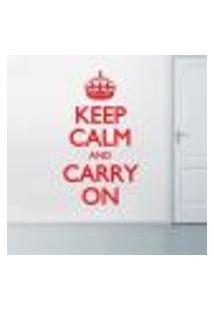 Adesivo De Parede - Keep Calm And Carry - P 50X30Cm