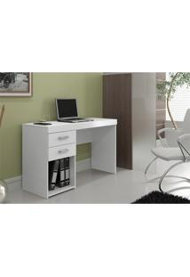 Mesa Para Computador Escrivaninha 2 Gavetas Malta Branco - Politorno