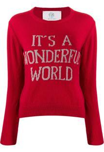 Alberta Ferretti It'S A Wonderful World Jumper - Vermelho