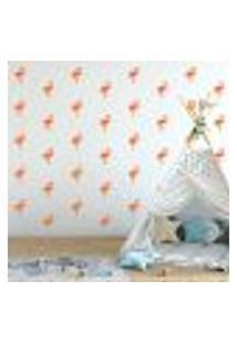 Adesivo Decorativo De Parede - Kit Com 40 Flamingos - 035Kaa09