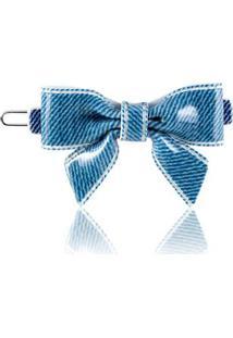 Laço Giullia Ferraz Store Bela Jeans Acetato - Feminino-Azul