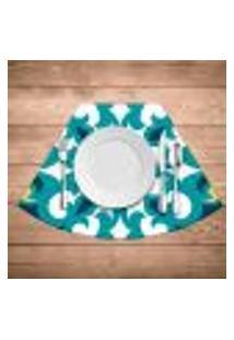 Jogo Americano Para Mesa Redonda Wevans Mandala Green Kit Com 4 Pçs
