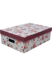 Caixa Organizadora M Flower- Vermelha & Branca- 12X2Boxmania
