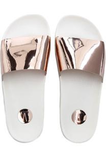 7fcd29e6c ... Chinelo Feminino Slide Metalizado Vizzano 6329100