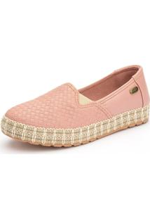 Slip On Casual Ousy Shoes Sola Corda 2019 Rosa - Kanui